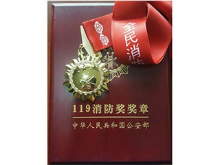 119 fire award medal of Ministry of Public Security of PRC