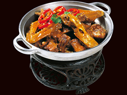 Braised Duck with Diced Hot Red Peppers